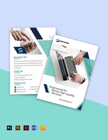 Bi-Fold IT Corporate Brochure Template