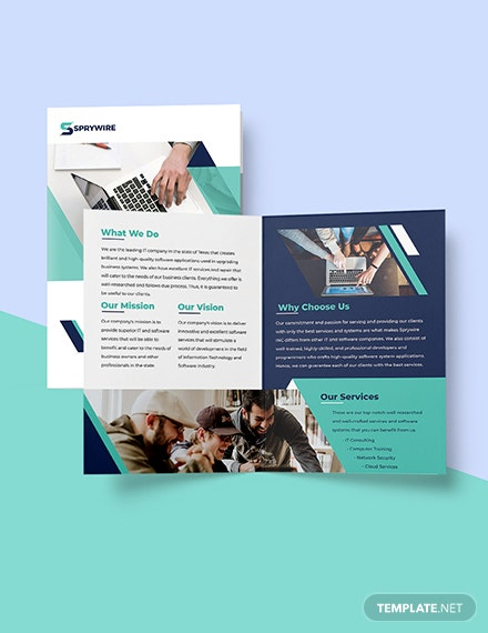 Bifold Software Development Brochure Printable