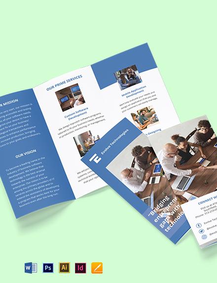 Tri-Fold IT Development Brochure Template