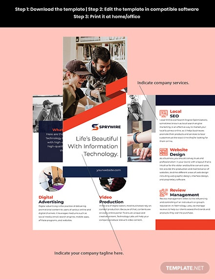 Trifold IT Promotional Brochure Sample
