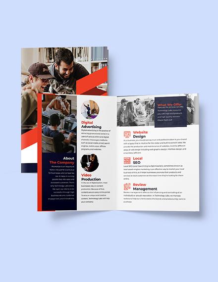 Bifold Software Development Brochure Printable