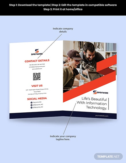 Bifold Software Development Brochure Sample