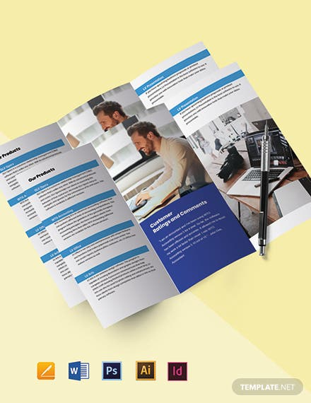 Tri-Fold IT Support Brochure Template