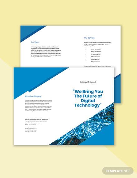 Bifold IT Support Brochure Template sample