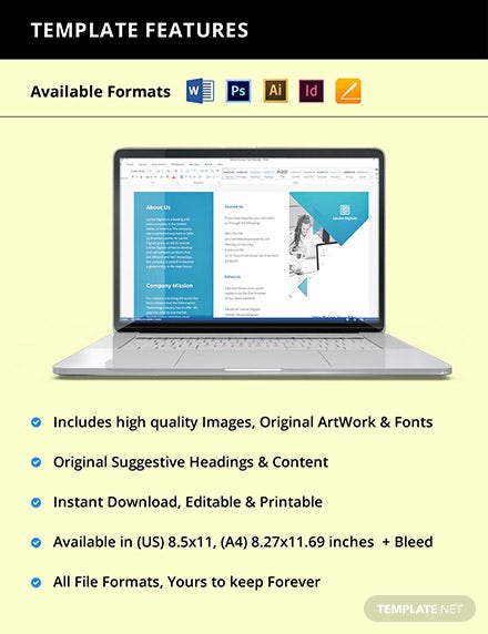 Trifold Software Product Brochure Template Instruction