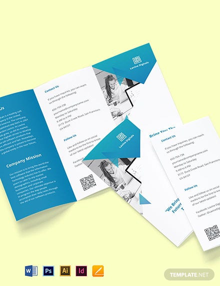 Tri-Fold Software Product Brochure Template