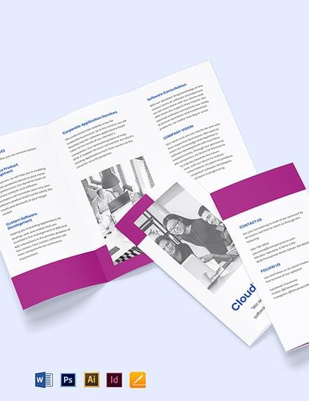 Tri-Fold Software Development Brochure Template