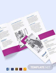 Tri-Fold Software Development Brochure Template