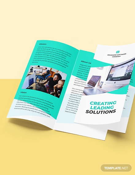 Trifold Computer Programming Brochure Template Format