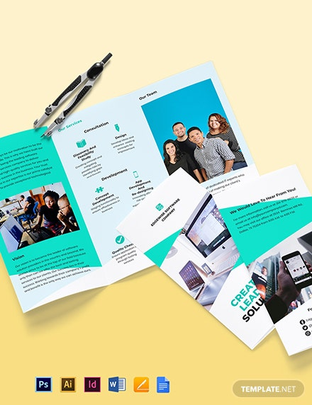 Trifold Computer Programming Brochure Template