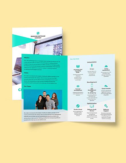 Bifold Computer Programming Brochure Template Format