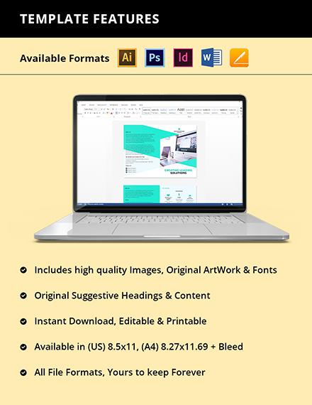 Bifold Computer Programming Brochure Template Instruction