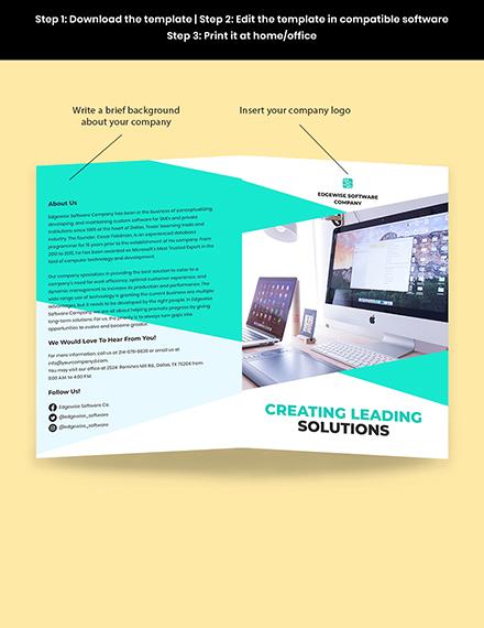 Bifold Computer Programming Brochure Template Sample