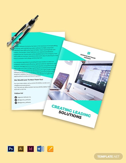 Bi-Fold Computer Programming Brochure Template