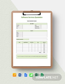 Software Services Quotation Template