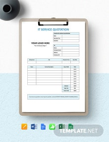 IT Company Service Quotation Template