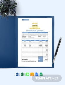 Software Price Quotation Template