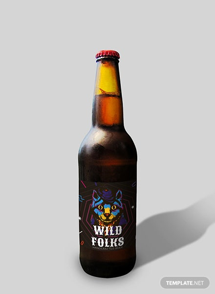 Creative Beer Label Template