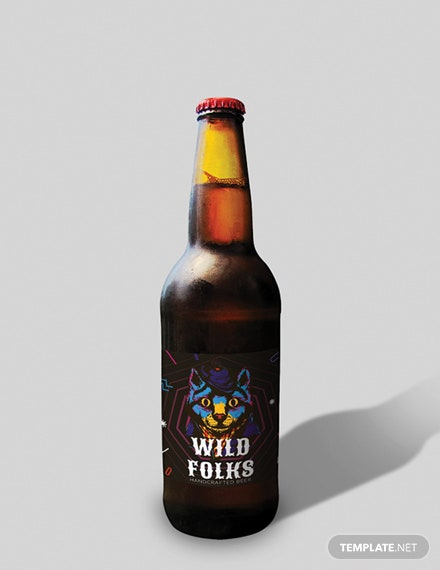 Free Creative Beer Label Template
