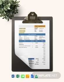 Software Development Price Quotation Template