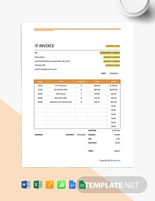 Free Simple IT Invoice Template
