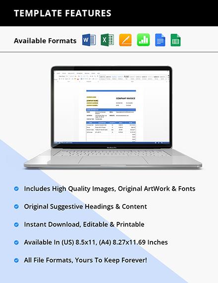 Free Sample IT Company Invoice Instruction