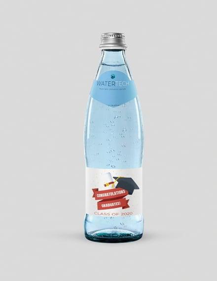 Free Graduation Water Bottle Label