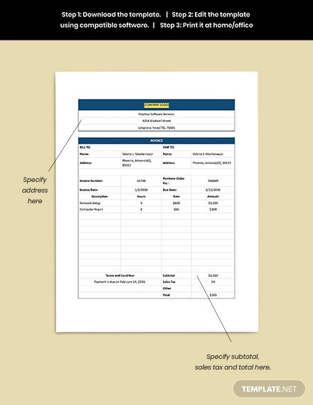 Software Services Invoice Guide