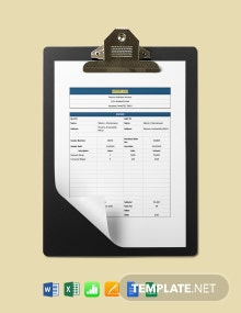 Software Services Invoice Template