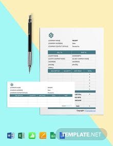 Free Blank Software Receipt Template