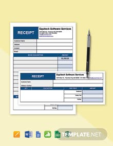 Free Simple Software Service Receipt Template