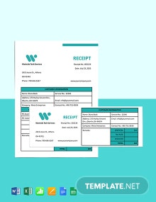 IT Service Receipt Template