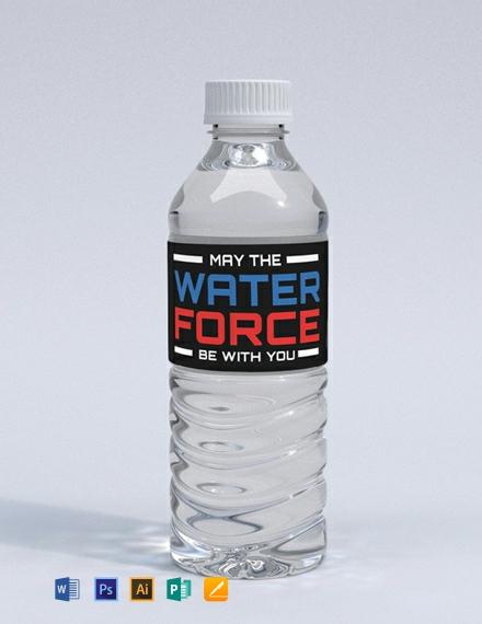 Free Star Wars Water Bottle Label
