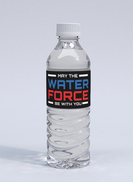 Star Wars Water Bottle Label