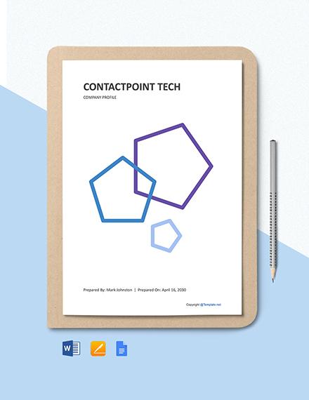 Free IT Company Landscape Profile Template