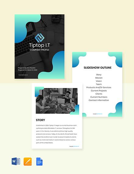 Free Creative IT Company Profile Template