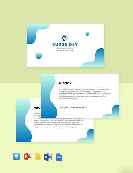 Software Development Company Profile Template