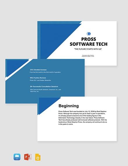 Startup IT Company Profile Template