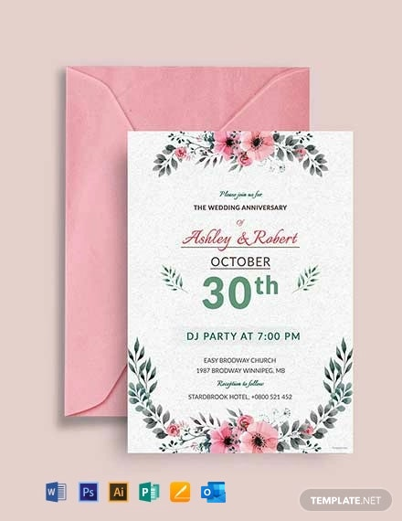 Free Wedding DJ Party Invitation Template