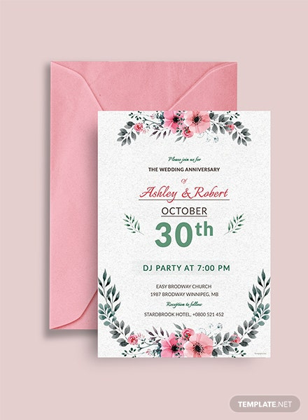 Wedding DJ Party Invitation Template
