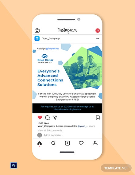Free Software Instagram Post Template