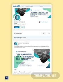 IT Company LinkedIn Brand Image Template