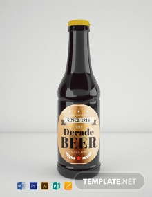 Free Vintage Beer Label Template