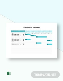 Daily Schedule Gantt Chart Template
