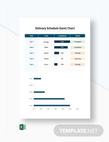 Delivery Schedule Gantt Chart Template