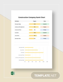 Construction Company Gantt Chart Template