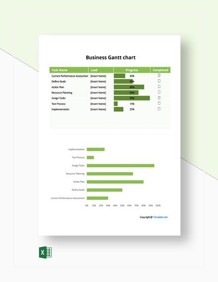 Free Example Business Gantt chart Template