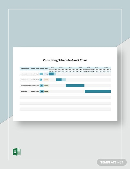 Consulting Shedule Gantt Chart Template
