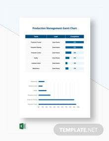 Production Management Gantt Chart Template