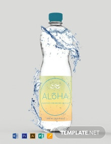 Free Water Bottle Label Template